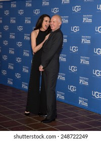 SANTA BARBARA, CA - JANUARY 31, 2015: Actress Andie MacDowell and Actor Michael Keaton attend the 30th Santa Barbara International Film Festival where he will receive the Modern Master Award #SBIFF