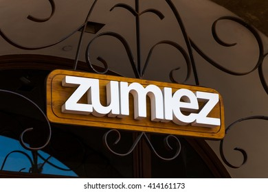 SANTA BARBARA, CA/USA - APRIL 30, 2016: Zumiez retail store and sign. Zumiez is a chain of action sporting goods in the United States.