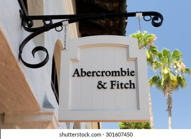 SANTA BARBARA, CA/USA - JULY 26, 2015: Abercrombie & Fitch store and sign. Abercrombie & Fitch is an upscale American retailer that focuses on casual wear for young consumers.