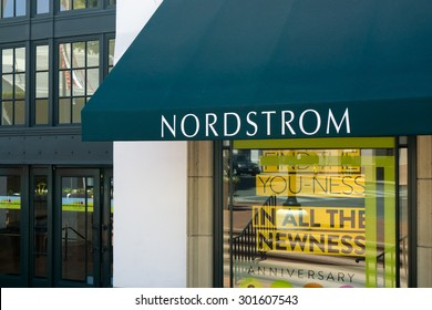 SANTA BARBARA, CA/USA - JULY 26, 2015: Nordstorm store and sign.Nordstrom, Inc. is an American upscale fashion retailer.