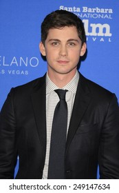 SANTA BARBARA - FEB 1: Logan Lerman at the Virtuosos Award at the 30th Santa Barbara International Film Festival at the Arlington Theatre on February 1, 2015 in Santa Barbara, CA