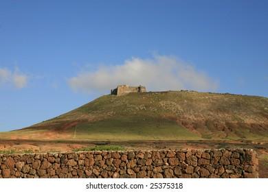 Santa Barbara of Guanapay Castle at Teguise, Lanzarote. Canary Islands, Spain.