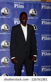 SANTA BARBARA - JAN 29:  Omar Sy arrives at the  Santa Barbara International Film Festival's 2013 Virtuosos Award at Arlington Theater on January 29, 2013 in Santa Barbara, CA