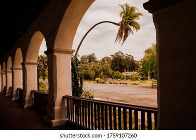 SANTA BARBARA - JUNE 17, 2020: The Santa Barbara Mission Church in Santa Barbara, CA