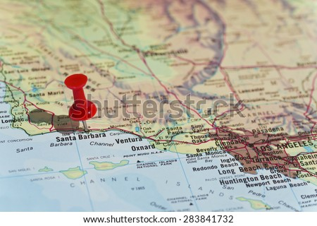 Santa Barbara marked on