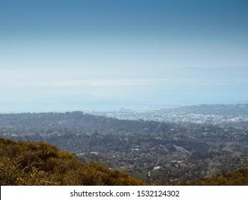 Santa Barbara and Pacific Ocean