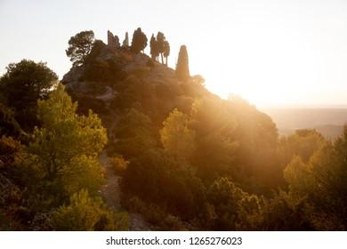 Santa barbara Peak. Horta de Sant Joan. Tarragona province. Spain