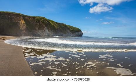 Santa Barbara Surf Beach in Sao Miguel, Azores, Portugal.
