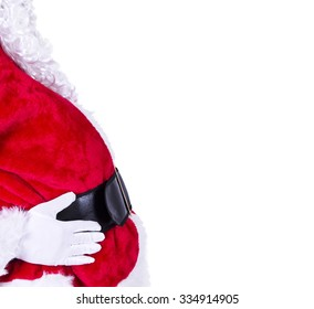 santa belly isolated