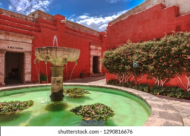 Santa Catalina Monastery. Religious colonial monument with more than four centuries old. Arequipa Peru