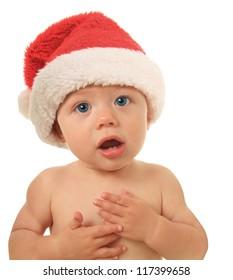 Santa Christmas baby talking to you.