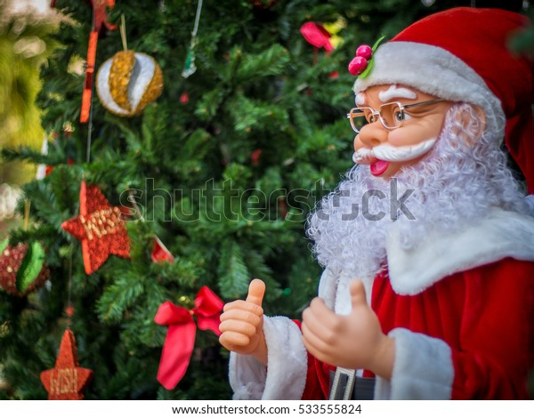 Santa, Christmas and New Year Festival Background.
