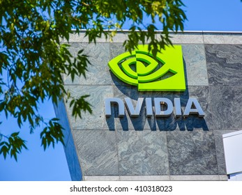 Santa Clara, CA - Apr. 23, 2016: NVIDIA Corp. NVIDIA is high technology company that designs graphics processing units for the gaming market, as well as system on a chip units for other markets.