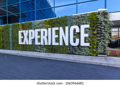 Santa Clara, California, USA - March 29, 2018: Intel sign at entrance of The Intel Museum in Silicon Valley. Intel is an American multinational corporation and technology company.