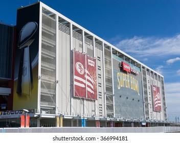 SANTA CLARA, CA/USA - JANUARY 24: Levi's football stadium in Santa Clara, CA, USA on Jan 24, 2016. It serves as the home of the San Francisco 49ers.