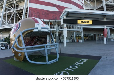 SANTA CLARA, CA/USA - JANUARY 24: Levi's football stadium in Santa Clara, CA, USA on Jan 24, 2016. It serves as the home of the San Francisco 49ers.