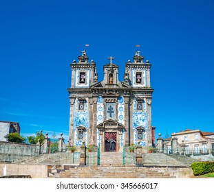 Santa Clara church facade at Porto, Portugal