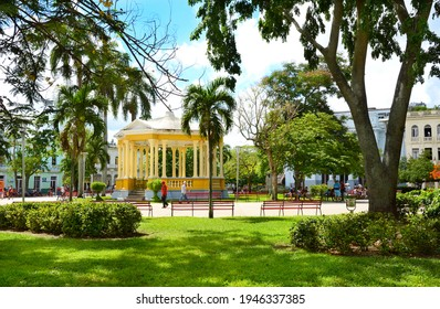 SANTA CLARA, CUBA - JULY 26, 2016: Main Square. Santa Clara is the capital city of the Cuban province of Villa Clara.