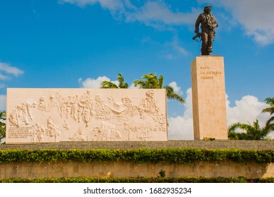 SANTA CLARA, CUBA - MARCH 2018: Che Guevara Memorial in Santa Clara. The national hero's ash is buried here under the monument with the remains of other revolutionaries.