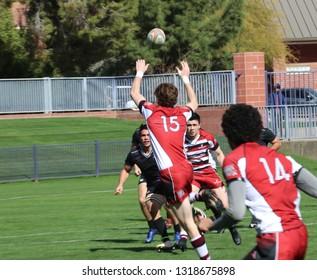 Santa Clara University rugby at GCU Stadium in Phoenix, Arizona/USA February 16,2019.