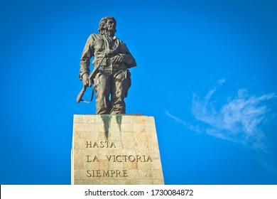 Santa Clara, Villa Clara / Cuba - November 05 2019: Santa Clara is known for its revolutionary landmarks as the Che Guevara Mausoleum, the resting place of Che Guevara and other fighters.