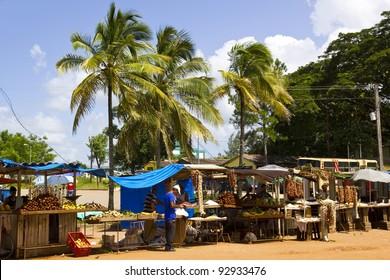 SANTA CLARA-CUBA, AGO 23: Tropical Market on August 23, 2011 in Santa Clara, Villa Clara province, Cuba. Agricultural markets are the leading supplier of food in Cuba.