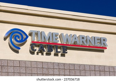 SANTA CLARITA, CA/USA - DECEMBER 6, 2014: Time Warner Cable office building. Time Warner is an American cable telecommunications company is the second largest cable company in the U.S.
