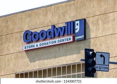 Santa Clarita, CA/USA. July 26, 2018. A Goodwill Store. Goodwill has helped more than 26.4 million people train for careers.