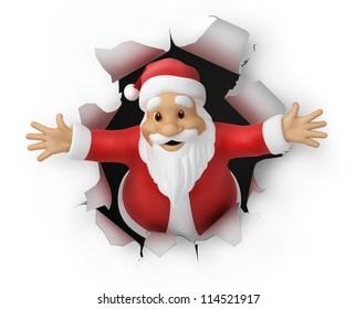 Santa Claus, 3d illustration.  animation http://footage.shutterstock.com/clip-2952436