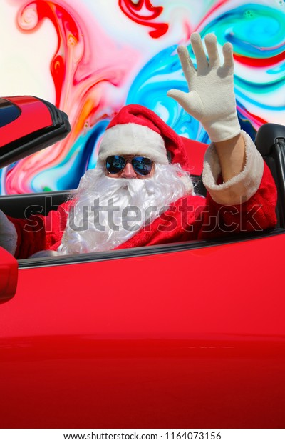Santa Claus Acid Trip Santa Claus Stock Photo (Edit Now) 1164073156
