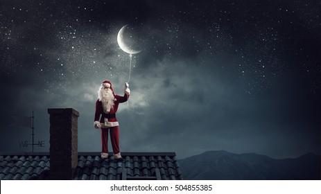 Santa Claus is already here . Mixed media