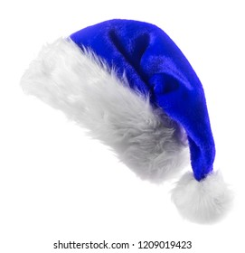 Santa Claus bluehat isolated on white background