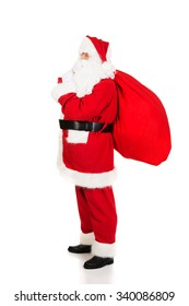 7108ed2736 Santa Claus carrying sack full of gifts