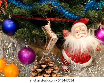 Santa Claus in christmas background
