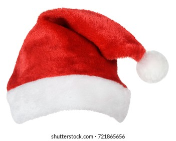 Santa Claus or christmas red hat isolated on white background