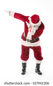 Santa Claus dab dabbing isolated on white background