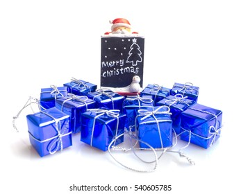 Santa Claus and gifts of box  for happy festival