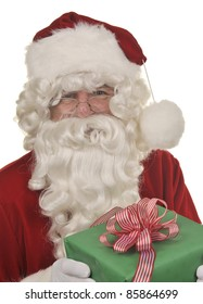 Santa Claus and gift/Santa Claus on Christmas Eve/Santa Claus offering a gift