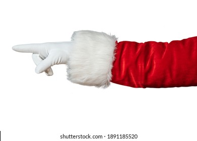 Santa Claus hand isolated on white background