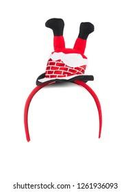 Santa Claus headband isolated on white background.