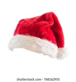 Santa Claus helper hat costume isolated on white background with clipping path for Christmas and New Year holiday seasonal celebration design decoration.