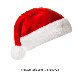Santa Claus helper hat isolated on white background. Christmas and New Year celebration