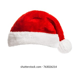 Santa Claus helper hat isolated on white background. New Year celebration