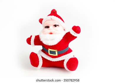 Santa Claus isolated on white. This is mass production. Clipping path included.