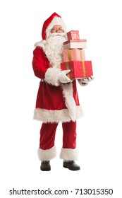 Santa Claus isolated on white background, with work path available for easy isolation