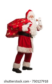 Santa Claus isolated on white background, with work path included for easy isolation