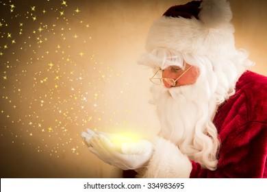 Santa Claus magic. Christmas holiday concept