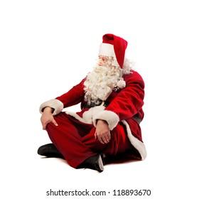 Santa Claus meditating