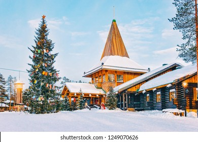 Santa Claus Office at Santa Claus Village in Rovaniemi in Lapland in Finland.