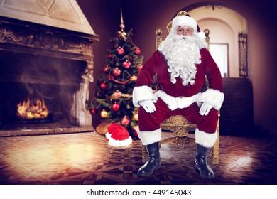 santa claus on chair